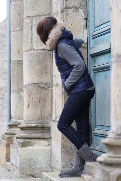 blog mode look casual doudoune