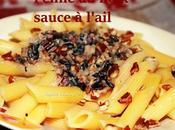 Penne noix sauce l'ail