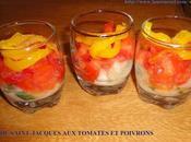 Tartare saint-jacques tomates poivrons