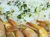 Mini brochette crevette saumon fumé, huiles parfumées