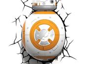 Deux lampes BB-8 Star Wars réveil force