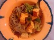 Tofu brocoli pâtes vert