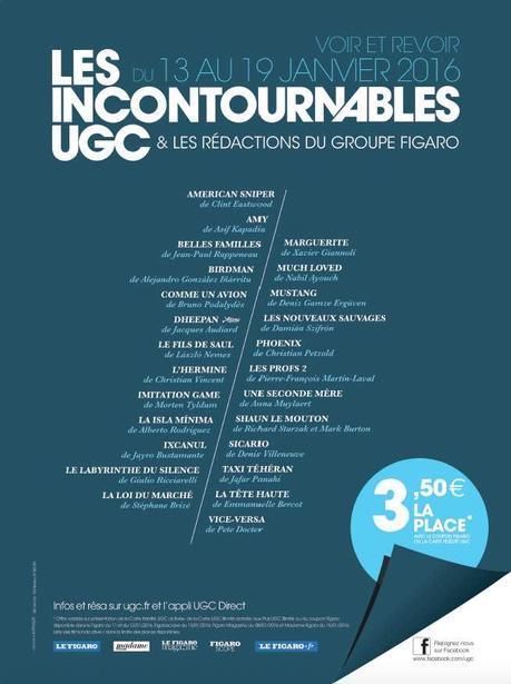 Les incontournables UGC 2015 - du 13 au 19 janvier 2016 - Pour voir et revoir 25 films qui ont marqué l'année 2015
