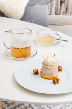 Boiling tea et Entremet aux saveurs pain dÔÇÖ+®pices et agrumes - Copie