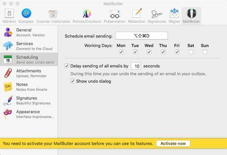 MailButler automatise l'envoi des courriers dans Mail