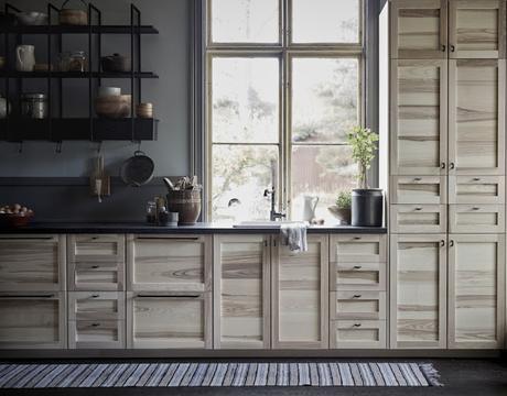 Ikea / Du naturel en cuisine : bois&lin /