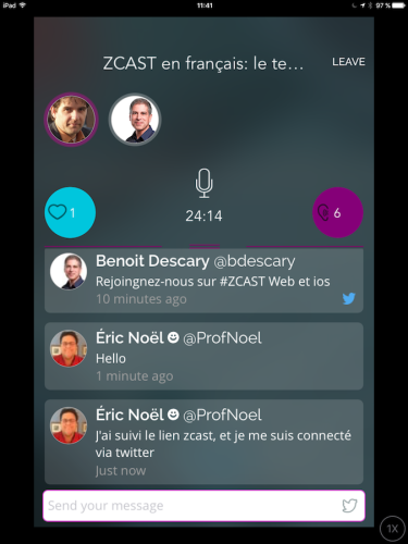 Zcast, le Periscope du Podcast