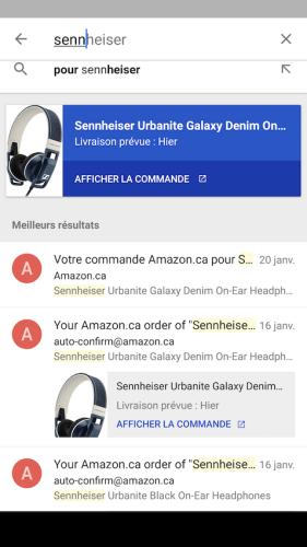 Google Inbox améliore sensiblement les résultats de recherche