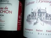 Castillon-Côtes Bordeaux Château Chainchon Tradition 2014 Montagne Saint Emilion Beauséjour 2011