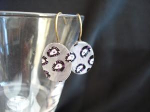 boucles d oreilles polymère gris-violet-anthracite 2