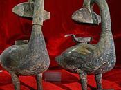 archéologues chinois découvrent d'anciennes lampes absorbant fumée