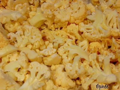 Quesadillas au chou-fleur et frites de tofu