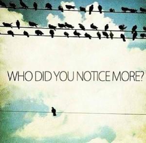 Qui avez-vous remarqué