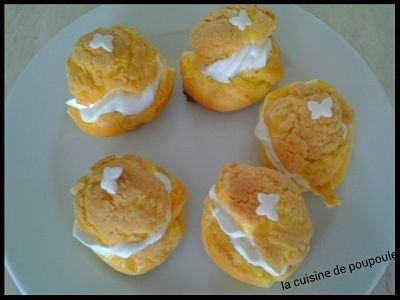 Choux craquelin et chantilly au thermomix ou sans