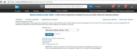 Exporter ses contacts LinkedIn et ses photos depuis Instagram