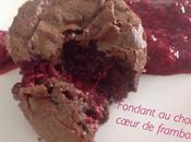 Moelleux chocolat, coeur coulant framboise