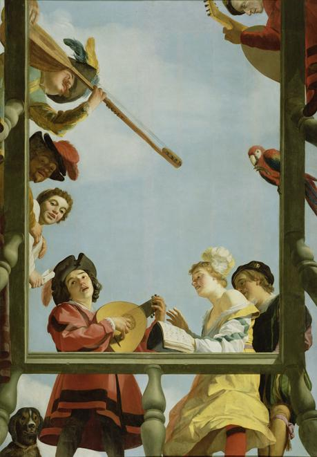 1622 Gerrit van Honthorst - Musical Group on a Balcony Getty Museum Malibu