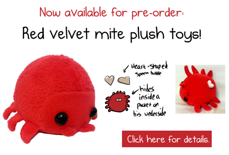 Peluche Red Velvet Mite, The Oatmeal