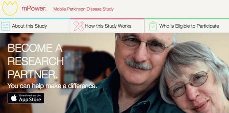 Home page d'mPower, initiative lancée par Sage Bionetworks