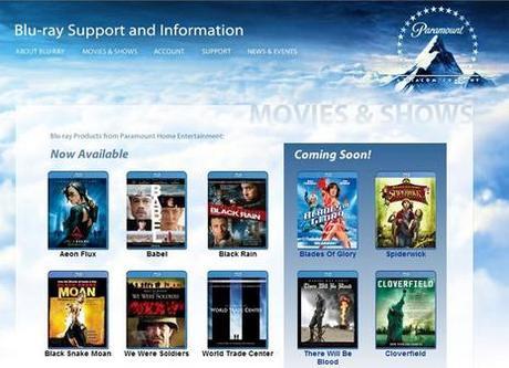 Ouverture Du Site Paramount Blu-ray