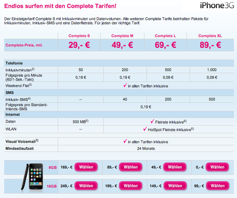 T-Mobile Brade l'iPhone 3G