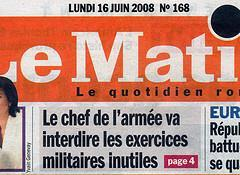 Suppression des exercices militaires inutiles