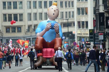 Mais la Belgique ce n'est pas que la (très bonne) bouffe. Car les Belges excellent partout. La preuve: Tintin est belge.