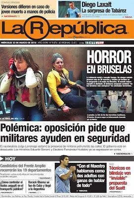 Les attentats à Bruxelles et Zaventem dans la presse rioplatense - Article n° 4800 [ici]