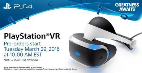 L'ensemble de base du PlayStationVR pourra être précommandé mardi prochain