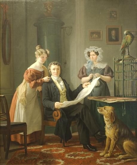 1829 Martinus Rorbye - The Surgeon with Wife and Daughter