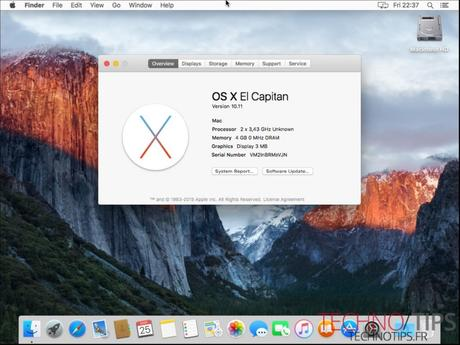 Installer Mac OS El Capitan sous VMware Workstation