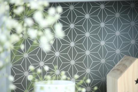 papier peint un diy tendance. Black Bedroom Furniture Sets. Home Design Ideas