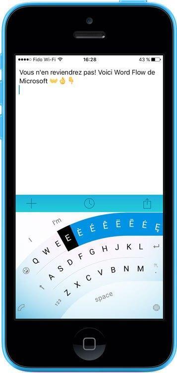 Microsoft Word Flow Keyboard : prise en main du clavier pour iOS
