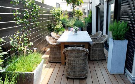 terrasse ou balcon am nager un coin de verdure en ville. Black Bedroom Furniture Sets. Home Design Ideas