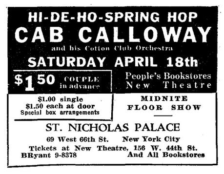 April 18, 1936: dance all night with Cab Calloway
