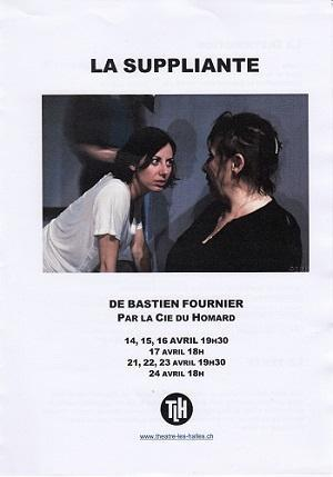 La suppliante, de Bastien Fournier, au Théâtre Les Halles, à Sierre