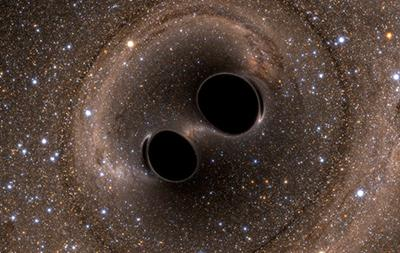 Simulation of two black holes that are about to merge