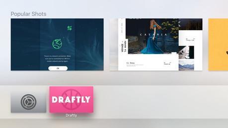Draftly un magnifique navigateur Dribbble pour Apple TV