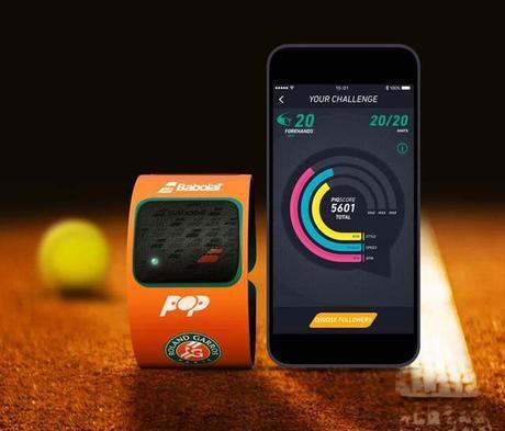 Babolat Pop Roland-Garros, le bracelet connecté dédié au Tennis