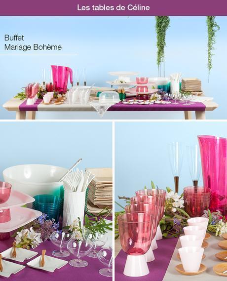 Buffet pour un mariage bohème