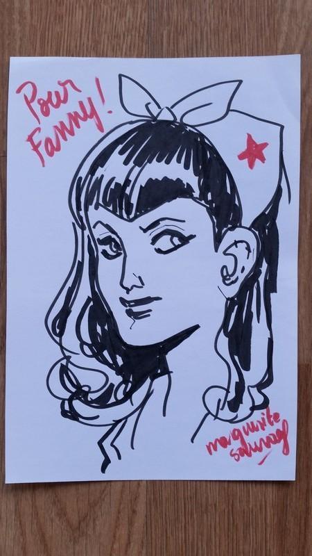 Sketch de Wonder Woman version Bombshells par Margherite Sauvage