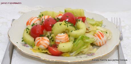 Salade fraîche aux Perles Coraya.