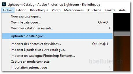 Optimisez le catalogue de Lightroom pour augmenter ses performances