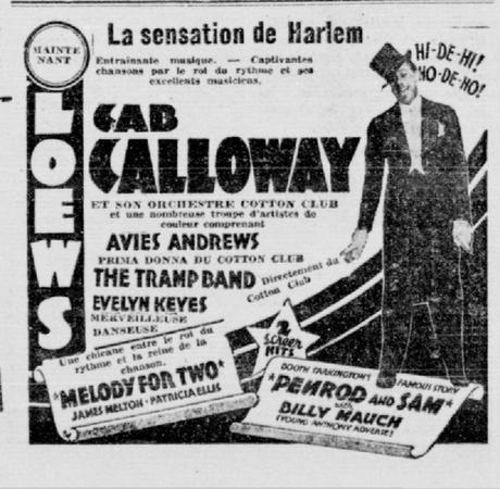 "May 2, 1937: ""La sensation de Harlem"" at Montreal's Loews"