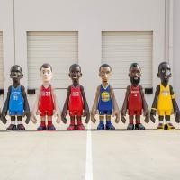 Les stars de la NBA en figurine géante