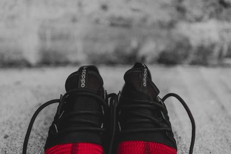 Adidas Tubular Radial Black Burgundy