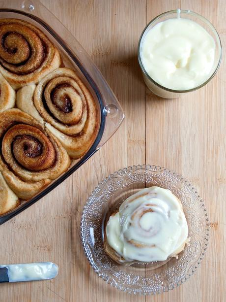 Cinnamon Rolls with  Mascarpone Cream Cheese Frosting