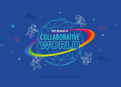 valeurs de creads - we build a collaborative world - wallpaper