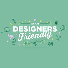 valeurs de creads - designer friendly - wallpaper