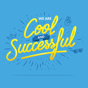 valeurs de creads - we are cool and successful